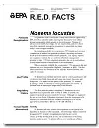 R.E.D. Facts Nosema Locustae by Environmental Protection Agency