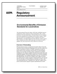 Regulatory Announcement by Environmental Protection Agency