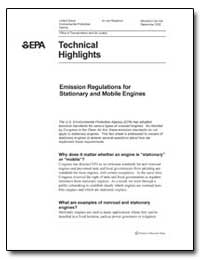 Technical Highlights by Environmental Protection Agency