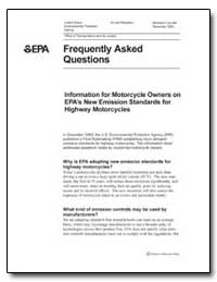 Frequently Asked Questions : Information... by Environmental Protection Agency