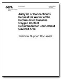 Analysis of Connecticut's Request for Wa... by Environmental Protection Agency