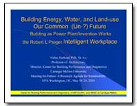 Building Energy, Water, And Land Buildin... by Hartkopf, Volker, Ph. D.
