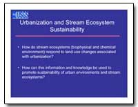 Urbanization and Stream Ecosystem Sustai... by Environmental Protection Agency