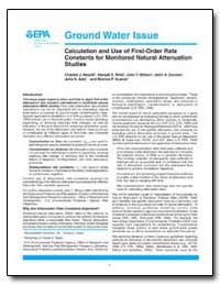 Ground Water Issue by Newell, Charles J.