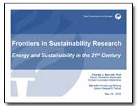Frontiers in Sustainability Research Ene... by Bennett, Charles J.