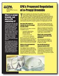 Epa's Proposed Regulation of N-Propyl Br... by Environmental Protection Agency