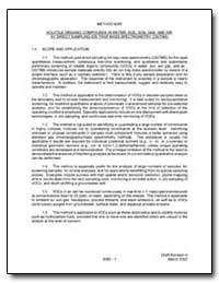 Method 8265 Volatile Organic Compounds i... by Environmental Protection Agency