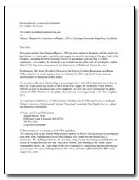 Request for Correction on Region 1 Epa's... by Seaver, George