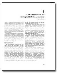 Epa's Framework for Ecological Effects A... by Zeeman, Maurice