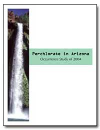 Perchlorate in Arizona by Butler, Don