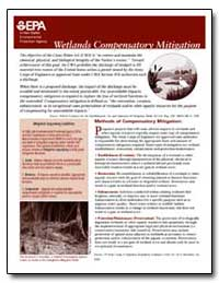 Wetlands Compensatory Mitigation by Environmental Protection Agency