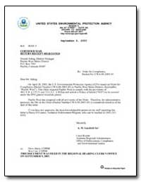 United States Environmental Protection A... by Gaydosh, A. M.