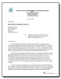 United States Environmental Protection A... by Wardell, John F.