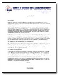 District of Columbia Water and Sewer Aut... by Environmental Protection Agency