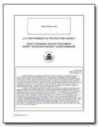 U.S. Environmental Protection Agency Dra... by Environmental Protection Agency