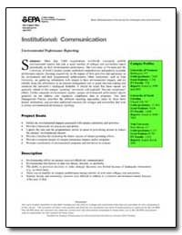 Institutional : Communication by Environmental Protection Agency