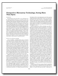Perspective : Microarray Technology, See... by Environmental Protection Agency