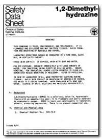 1, 2-Dimethylhydrazine by Environmental Protection Agency