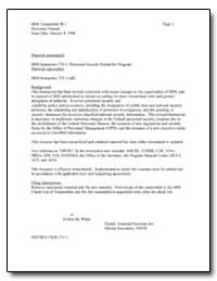 Material Transmitted : Hhs Instruction 7... by Environmental Protection Agency