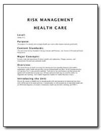 Risk Management Health Care by Environmental Protection Agency