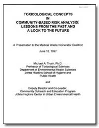 Toxicological Concepts in Community Comm... by Trush, Michael A., Ph. D.