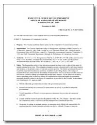 Executive Office of the President Office... by Environmental Protection Agency