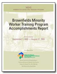 Brownfields Minority Worker Training Pro... by Environmental Protection Agency