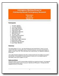 Interagency Working Group for Community-... by Environmental Protection Agency