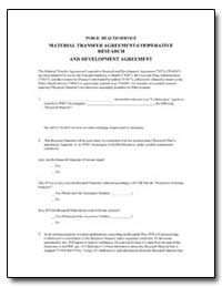 Material Transfer Agreement-Cooperative ... by Environmental Protection Agency