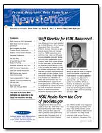 Staff Director for Fgdc Announced by Environmental Protection Agency