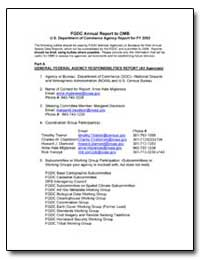 Fgdc Annual Report to Omb U. S. Departme... by Environmental Protection Agency