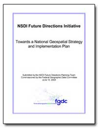 Nsdi Future Directions Initiative by Environmental Protection Agency