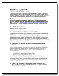 Fgdc Annual Report to Omb by Environmental Protection Agency