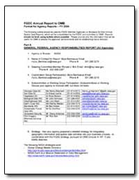 General Federal Agency Responsibilities ... by Environmental Protection Agency