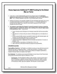 House Approves Additional Fy 2005 Fundin... by Environmental Protection Agency