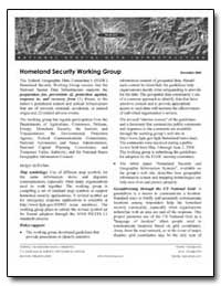 Homeland Security Working Group by Environmental Protection Agency