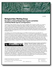 Biological Data Working Group by Environmental Protection Agency