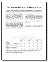 The Mineral Industry of Massachusetts by Environmental Protection Agency