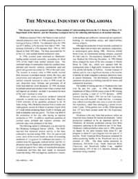 The Mineral Industry of Oklahoma by Johnson, Kenneth S.