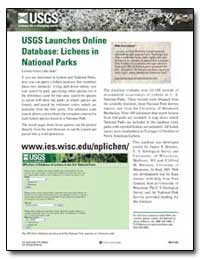 Usgs Launches Online Database : Lichens ... by Environmental Protection Agency