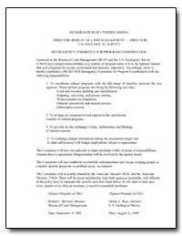 Memorandum of Understanding by Environmental Protection Agency
