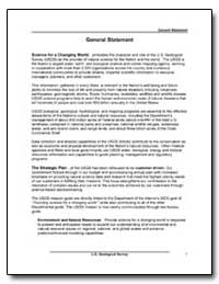 General Statement : U. S. Geological Sur... by Environmental Protection Agency