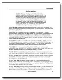 Authorizations : 2 U. S. C. 681-688 by Environmental Protection Agency