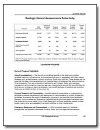 Geologic Hazard Assessments Subactivity by Environmental Protection Agency