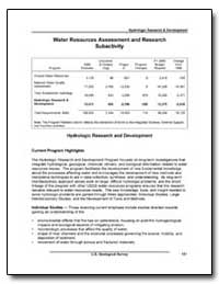 Water Resources Assessments and Research... by Environmental Protection Agency