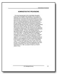 Administrative Provisions by Environmental Protection Agency