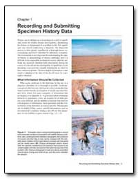 Recording and Submitting Specimen Histor... by Environmental Protection Agency