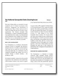 The National Geospatial Data Clearinghou... by Environmental Protection Agency