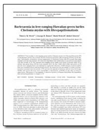Bacteraemia in Free-Ranging Hawaiian Gre... by Work, Thierry M.