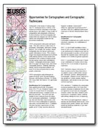 Opportunities for Cartographers and Cart... by Environmental Protection Agency